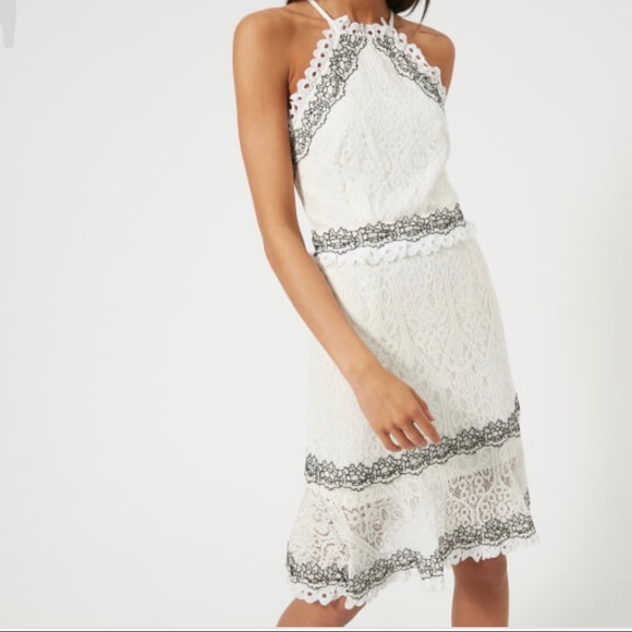 Foxiedox Dresses Nwt Frances Embroidered Lace Halter